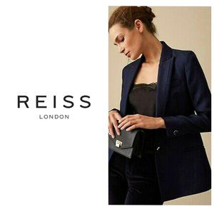 REISS Luxury Wool Navy Classic Blazer